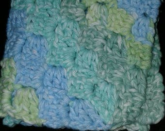 Multiple colored washcloth.