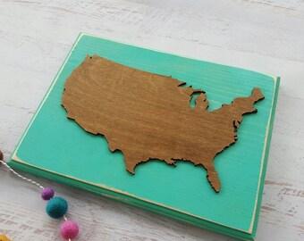 Wood US Map....Rustic World Map...Travel...Laser Cut Wood...Nursery Decor...Rustic Home Decor...HAVENSPLACE