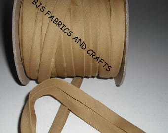 """TAUPE Beige Bias Tape 1/2"""" EXTRA Wide Double Fold Bias Tape US Made 12 Yds"""