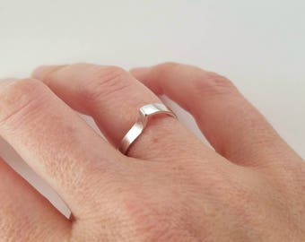 Sterling silver thought bubble ring