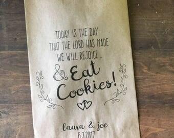 Favor bags custom printed for Jamey
