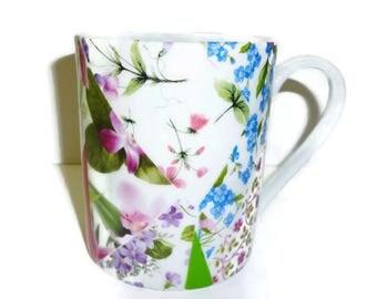 Mug porcelain patchwork of Limoges