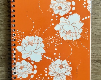 "Notebook with Original Art ""Peony Float"""