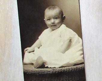 Vintage 1920's Baby Photograph