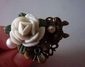 SALE Flower Ring Statement Ring modern bohemian Ring Fantasy Jewelry