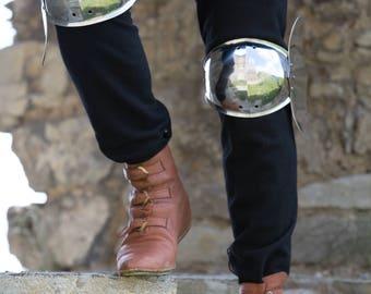 Medieval Steel Leg Armor Knee Cops sca; men's armour
