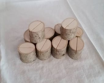 10 Maple Natural Wood Place Card Holder Rustic Wedding Table Decor Table Number Holder Business Card Holders