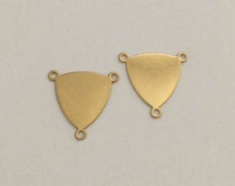 Triangle Connectors, Blanks, Disc, Brass Stamping Blanks, Stamping Tags, 18 mm, 10 pcs