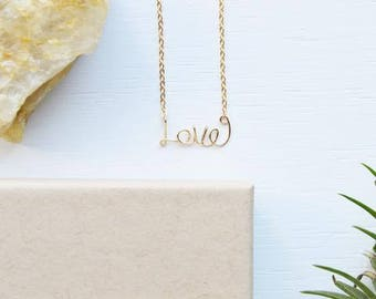 Name or Word Necklace Jewelry Sterling Silver Gold fill Gift Ready