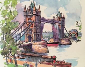 Vintage Set of 4 London Scenes Placemats Mats London Souvenir