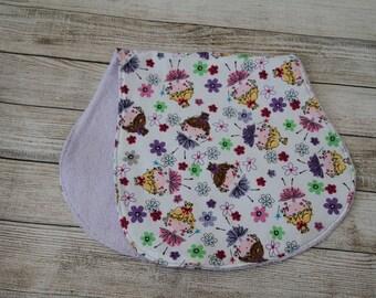 Ballarina Girl Burp Cloth