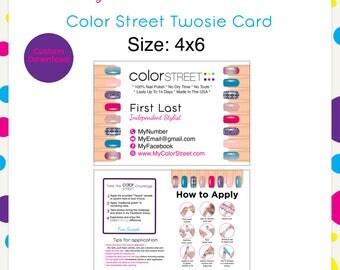 Color Street Twosie Nails Pink 4x6 --Custom Digital Download