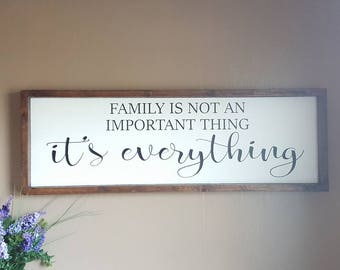 Family Is Everything, Framed Signs, Farmhouse Style, Rustic Home Decor, Word Art, Framed Wooden Sign, Fixer Upper Style, Modern Farmhouse