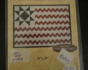 Rick Rack Flag Quilt Pattern