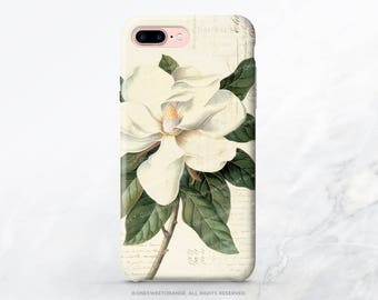iPhone 7 Case Vintage Magnolia iPhone 7 Plus Case iPhone 6s Case iPhone SE Case iPhone 6 iPhone 5S Case Galaxy S8 Case Galaxy S7 Case V42