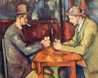 "Paul Cesanne ""Two card players"" limited edition & numbered Print Giclees"