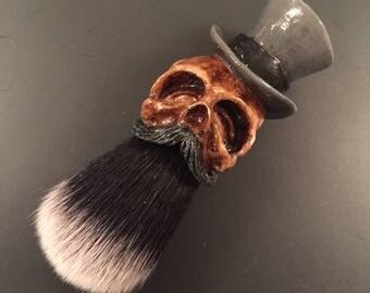 Tophat Shaving Brush (Custom Black / Gray)