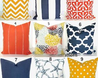 orange outdoor pillows blue pillows yellow pillow covers navy blue pillow covers 16x16