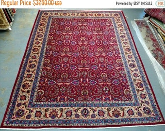 SUMMER CLEARANCE 1970s Hand-Knotted, Mashad Persian Rug (3530)