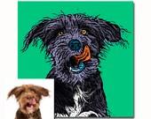 Custom dog portrait - Pop art pet portrait - Gift for pet owners - Andy Warhol portrait - customize pet portraits - custom dog picture