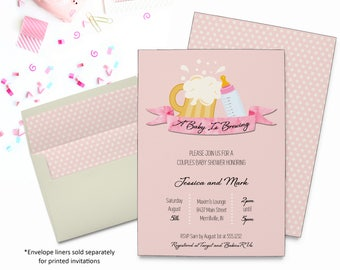 Baby Is Brewing Invitation | Baby Shower | Printable Digital File | BSI121DIY