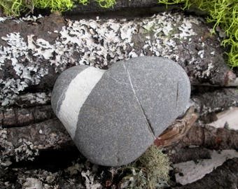 Natural Heart Shaped Rock - Beach Stone Heart - Love Rock - Wedding - Anniversary - Engagement - Zen Stone HR 112