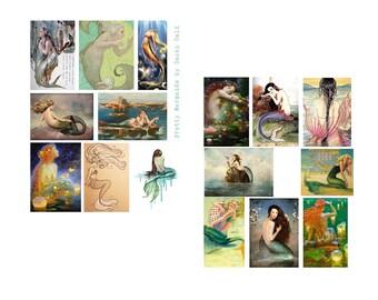 Pretty Mermaids Digital Collage Set