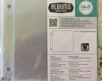 "We R Ring Instagram Photo Sleeves 10 Pack 4"" x 4"" Albums Made Easy"