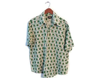 Mens vintage shirt size Large Towncraft JCPenney
