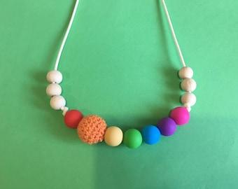 Teethin necklace rainbow 2