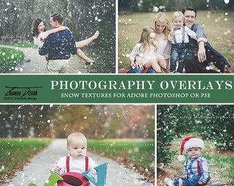 ON SALE Photography Christmas Snow Overlays, Winter Photo Overlays, INSTANT Download