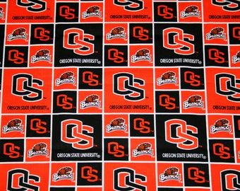 Oregon State University Fabric, Oregon Beavers College Fabrics, NCAA Fabrics,  Continuous Piece, Sykel #OS020