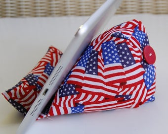 US Flag Phone Holder Beanie for any smart phone and tablet or device