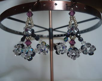 Multicolored baroque pearls earrings