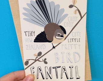Fantail - Greeting card