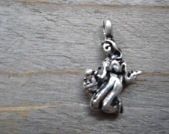 New 3D silver metal pendant