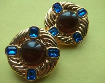 Authentic Vintage ESCADA Clip on Earrings by Margaretha Ley Early 1990s