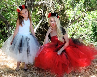 Halloween mother daughter matching tutu set Dia de los Muertos mom and daughter witch ghost costumes day of the dead tutu mom and me tutuhot