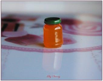 Small jam jar miniature resin 1 x ORANGE 15mm