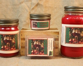 Christmas Cabernet Candle, Christmas Cabernet Wax Tarts, 26 oz, 12 oz, 4 oz Jar Candles or 3.5 Clam shell wax tarts