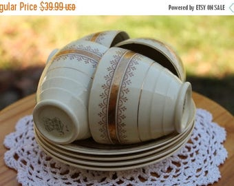 ON SALE Set Of Four NEW Hall Hanley China Teacup and Saucer Sets,