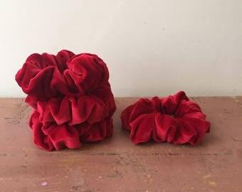 Handmade Red Velvet Scrunchie