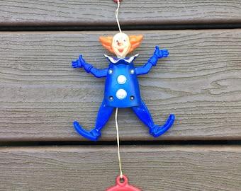 Vintage Bozo the Clown Crib Pull Toy