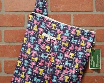 Medium Knitting Bag, Crochet, Knit, Yarn, Wool, Cats, Yarn Storage, Yarn Bag with Hole, Grommet, Handle, MYB11