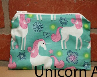One Snack Sack, Reusable Lunch Bags, Waste-Free Lunch, Machine Washable, Unicorn, Back to School, School Lunch, item #SS37