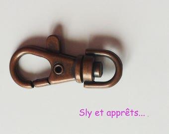 7 hooks copper brass 38mm