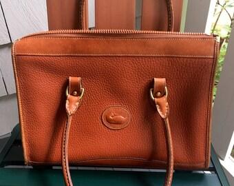 Vintage Dooney and Bourke Brown Shoulder Satchel Handbag