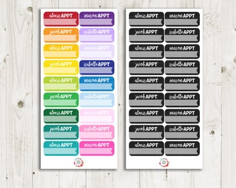 Custom Name Appointment Stickers - ECLP Sticker