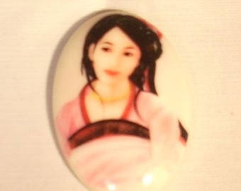Cabochon for creating jewelry resin geisha 45 x 30