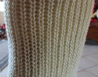 Model skirt knitted beaded ribbed 90cmx70cm ht - choose colors - elastiquee belt - handmade